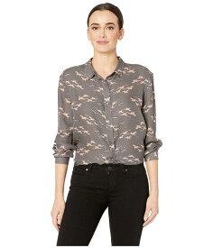 ペンドルトン レディース シャツ トップス Long Sleeve Silk Button Up Grey/Pink Pony Print