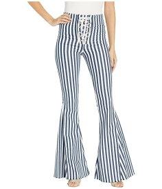 ウミーユアムーム レディース デニムパンツ ボトムス Berkeley Tie Up Bells Jeans in Nautical Stripe Nautical Stripe