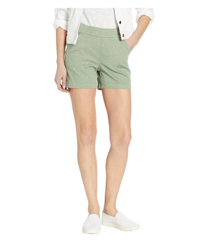 """ジャグジーンズ レディース ハーフパンツ・ショーツ ボトムス 5"""" Gracie Pull-On Shorts New Leaf Polka Dot"""