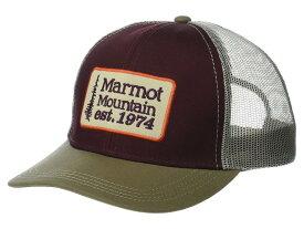 マーモット メンズ 帽子 アクセサリー Retro Trucker Hat Burgundy/Cavern