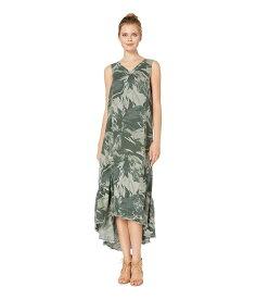 エックスシーブイアイ レディース ワンピース トップス Camo Tropical Dress in Solstice Linen Ivy Hall Pigment