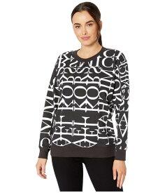 マイケルコース レディース パーカー・スウェット アウター Logo Print Sweatshirt Black/White
