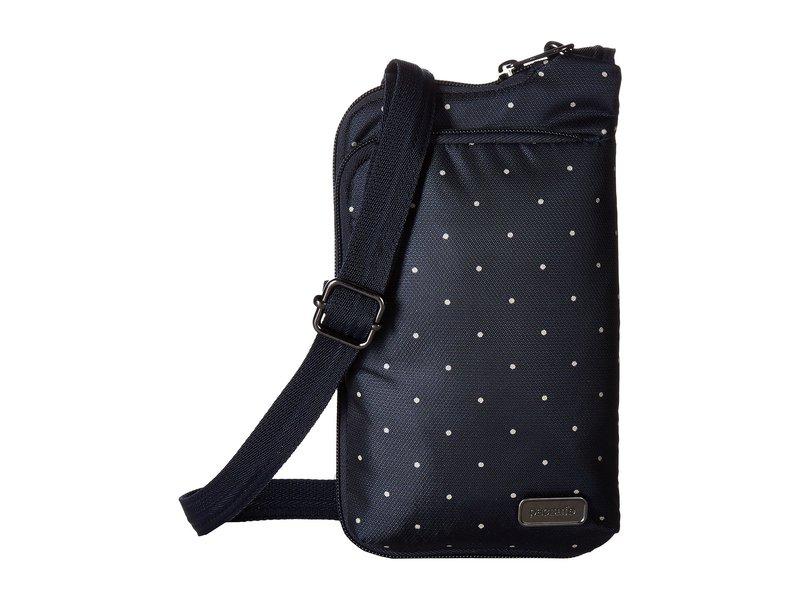 パックセーフ レディース ハンドバッグ バッグ Daysafe Anti-Theft Tech Crossbody Bag Navy Polka Dot