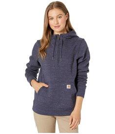 カーハート レディース パーカー・スウェット アウター Clarksburg 1/2 Zip Sweatshirt Navy Space Dye