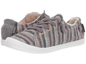 ロキシー レディース スニーカー シューズ Bayshore Faux-Fur Lined Shoes Grey/Purple