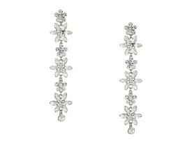 """ケネスジェイレーン レディース ピアス・イヤリング アクセサリー 4"""" Rhodium/Rhinestone/Crystal Multi Flower Drop Post Earrings Rhodium/Rhinest"""