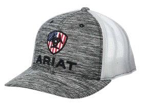 アリアト メンズ 帽子 アクセサリー Ariat Rwb Shield Logo Flexfit110 Snapback Cap Heather Grey/Wh