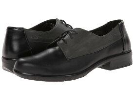 ナオト レディース オックスフォード シューズ Kedma Jet Black Leather/Tin Gray Leather/Black Madras Leather