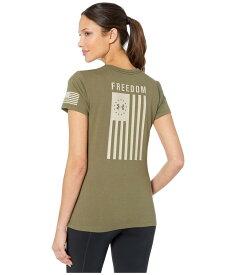 アンダーアーマー レディース シャツ トップス Freedom Flag T-Shirt Marine OD Green