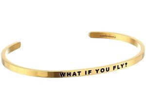 マントラバンド メンズ ブレスレット・バングル・アンクレット アクセサリー What If You Fly Cuff Yellow Gold