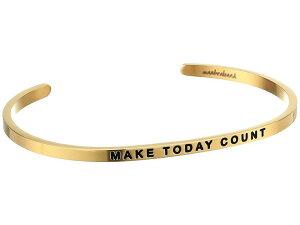 マントラバンド メンズ ブレスレット・バングル・アンクレット アクセサリー Make Today Count Cuff Yellow Gold