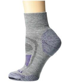 メレル メンズ 靴下 アンダーウェア Merino Wool Cushioned Hiker Quarter Socks 1-Pair Purple/Grey Hea