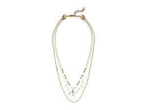 ラッキーブランド レディース ネックレス・チョーカー・ペンダントトップ アクセサリー Layered Beaded Stone Necklace Two-Tone