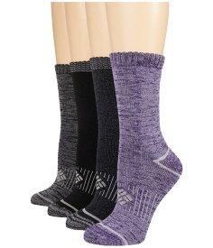 コロンビア レディース 靴下 アンダーウェア Moisture Control Space Dye 4-Pack Purple Black