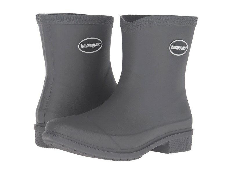 ハワイアナス レディース ブーツ・レインブーツ シューズ Galochas Low Matte Rain Boot Dark Grey