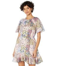 テッドベーカー レディース ワンピース トップス Lalu Urban Printed Fluted Hem Mini Dress Light Pink