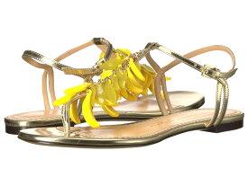 シャーロットオリンピア レディース サンダル シューズ Banana Sandals Champagne Metallic Calfskin/Perspex