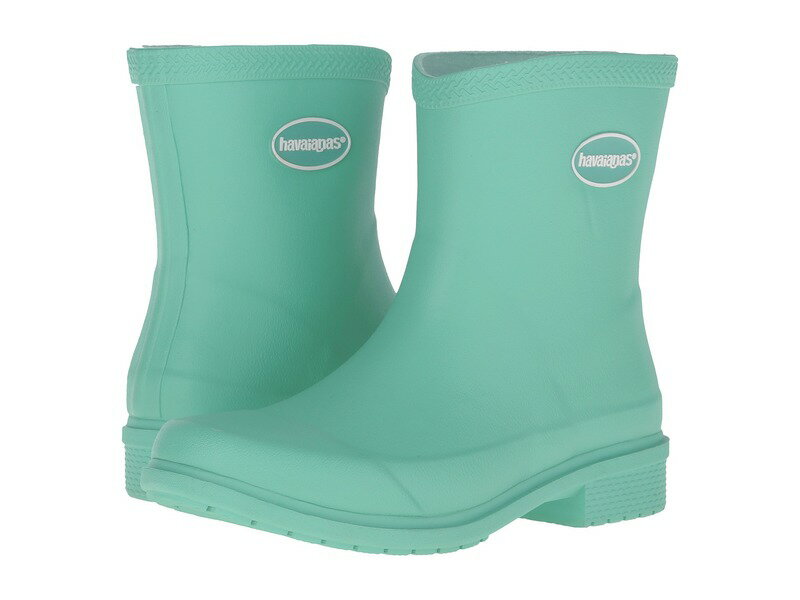 ハワイアナス レディース ブーツ・レインブーツ シューズ Galochas Low Matte Rain Boot Light Green