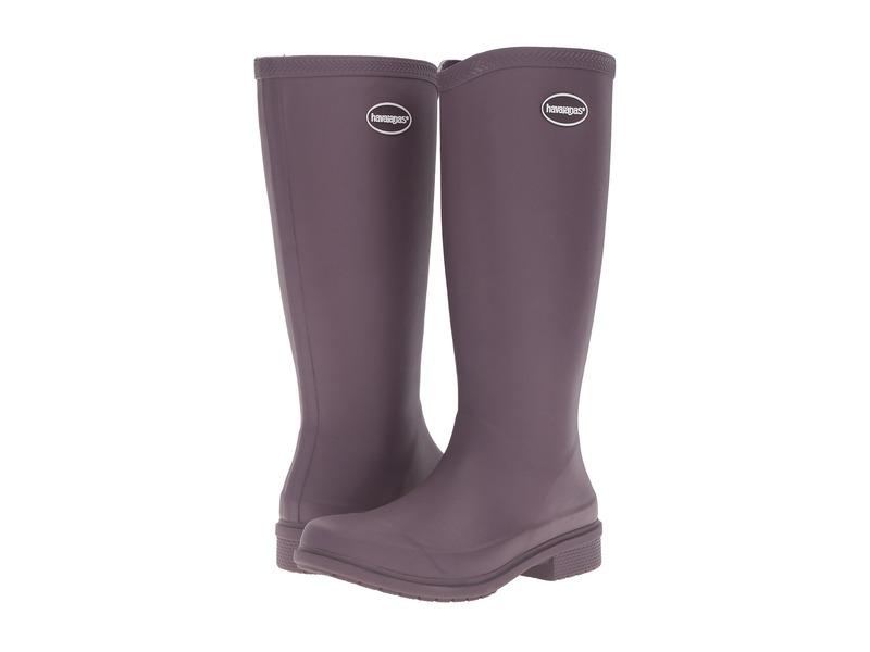 ハワイアナス レディース ブーツ・レインブーツ シューズ Galochas Hi Matte Rain Boot Purple