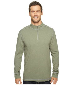 エコース メンズ シャツ トップス Black Rock 3/4 Zip Shirt Agave Green
