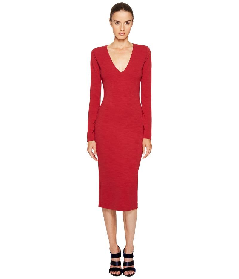 ディースクエアード レディース ワンピース トップス Wool Jersey Long Sleeve Dress Red