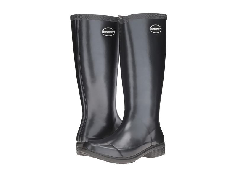 ハワイアナス レディース ブーツ・レインブーツ シューズ Galochas Hi Metallic Rain Boot Dark Grey Metallic