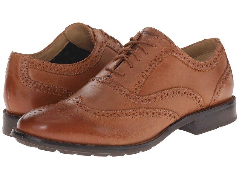 セバゴ メンズ オックスフォード シューズ Dresden Wing Tip Tan Leather