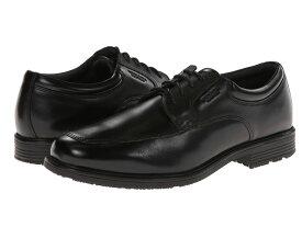 ロックポート メンズ オックスフォード シューズ Lead The Pack Apron Toe Black WP Leather