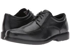 ロックポート メンズ オックスフォード シューズ Charles Road Apron Toe Oxford Black Leather