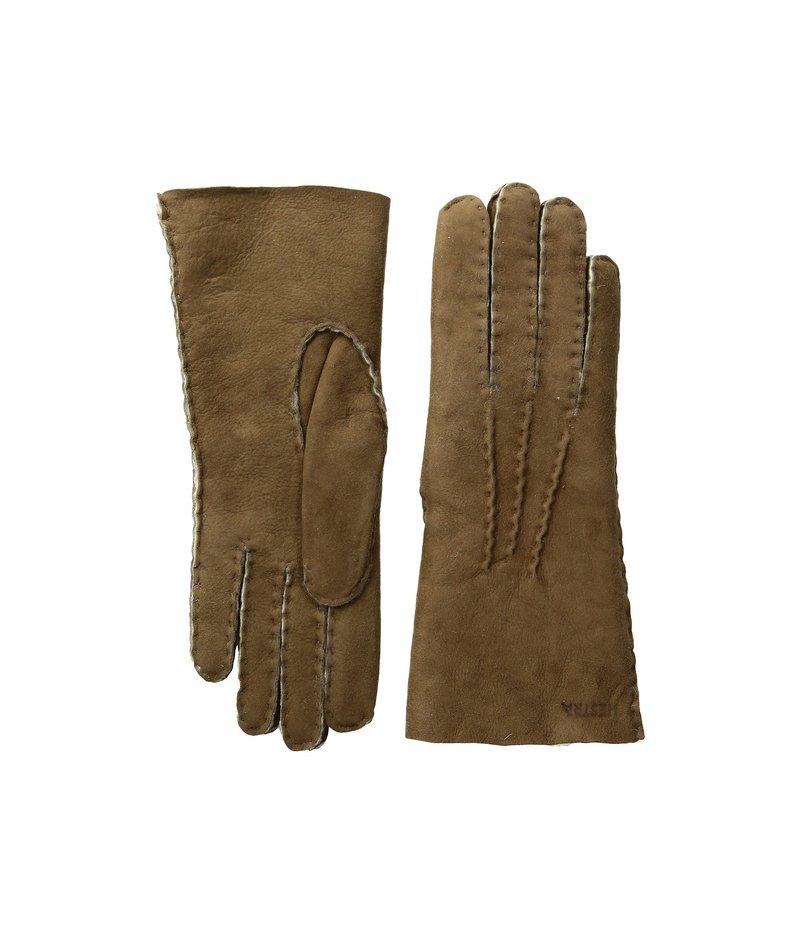 ヘストラ レディース 手袋 アクセサリー Sheepskin Gloves Beige
