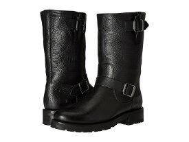 フライ レディース ブーツ・レインブーツ シューズ Natalie Mid Engineer Lug Black Waterproof Waxed Pebbled Leather/Shearling