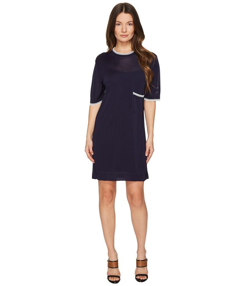 ディースクエアード レディース ワンピース トップス Skin Hibird Short Sleeve Dress Navy/Blue