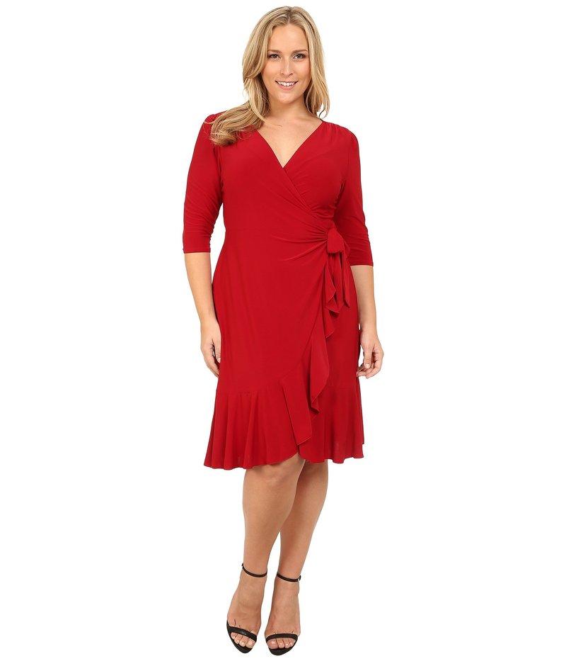 キヨナ レディース ワンピース トップス Whimsy Wrap Dress Red-y For Love