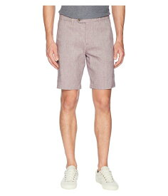 テッドベーカー メンズ ハーフパンツ・ショーツ ボトムス Newshow Linen Weave Shorts Purple