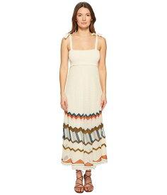 レッドヴァレンティノ レディース ワンピース トップス Multicolor Chevron Intarsia Knit Dress Ecru