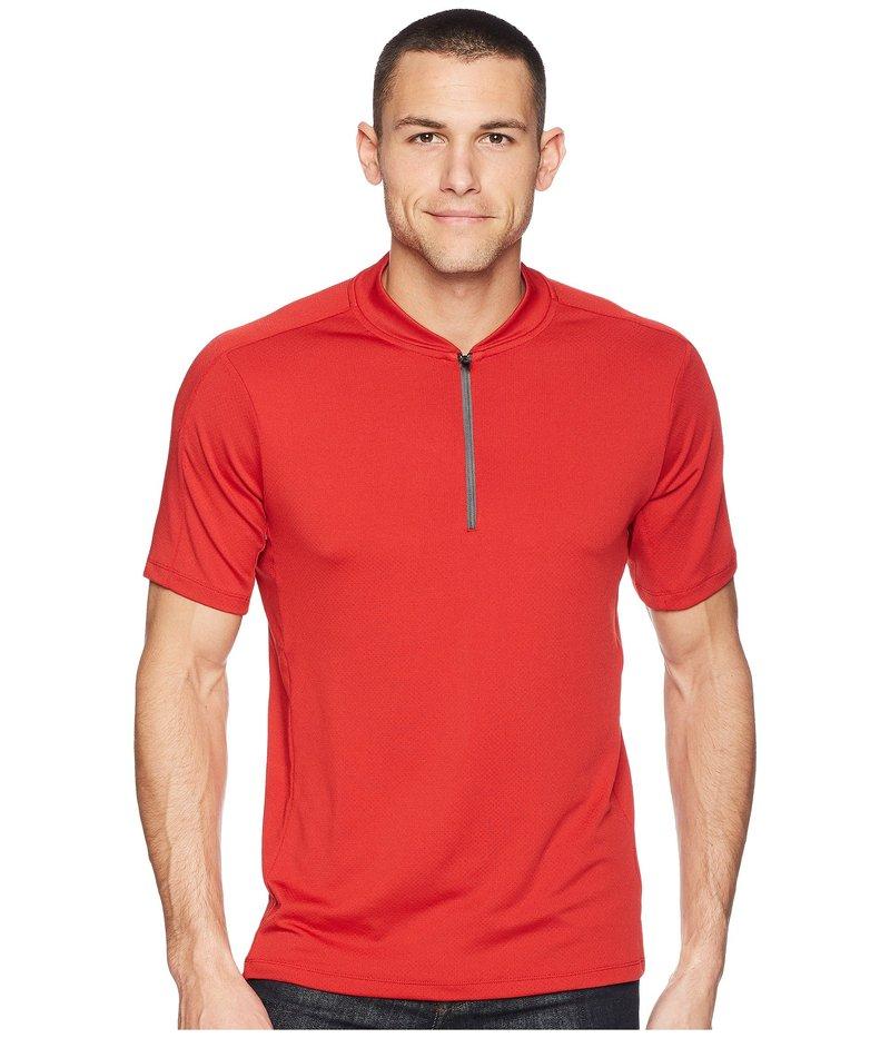 ペリーエリス メンズ シャツ トップス PE360 Active Mesh Zip Polo Bright Haute Red