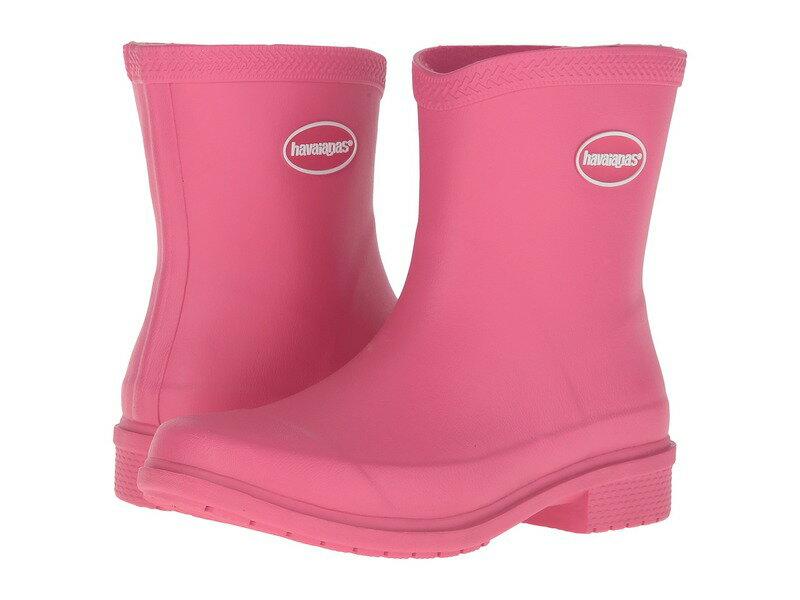 ハワイアナス レディース ブーツ・レインブーツ シューズ Galochas Low Matte Rain Boot Rose