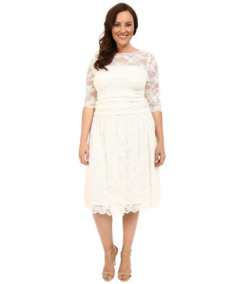 キヨナ レディース ワンピース トップス Aurora Lace Wedding Dress Ivory