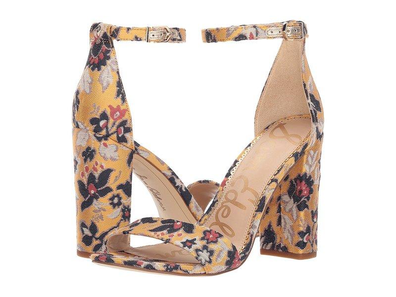 サムエデルマン レディース ヒール シューズ Yaro Ankle Strap Sandal Heel Tuscan Yellow Multi Gatsby Floral Jacquard