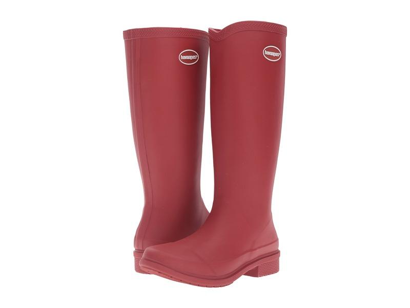 ハワイアナス レディース ブーツ・レインブーツ シューズ Galochas Hi Matte Rain Boot Ruby Red