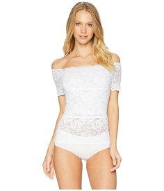 ハンキーパンキー レディース シャツ トップス Evelyn Lace Off-The-Shoulder Top White