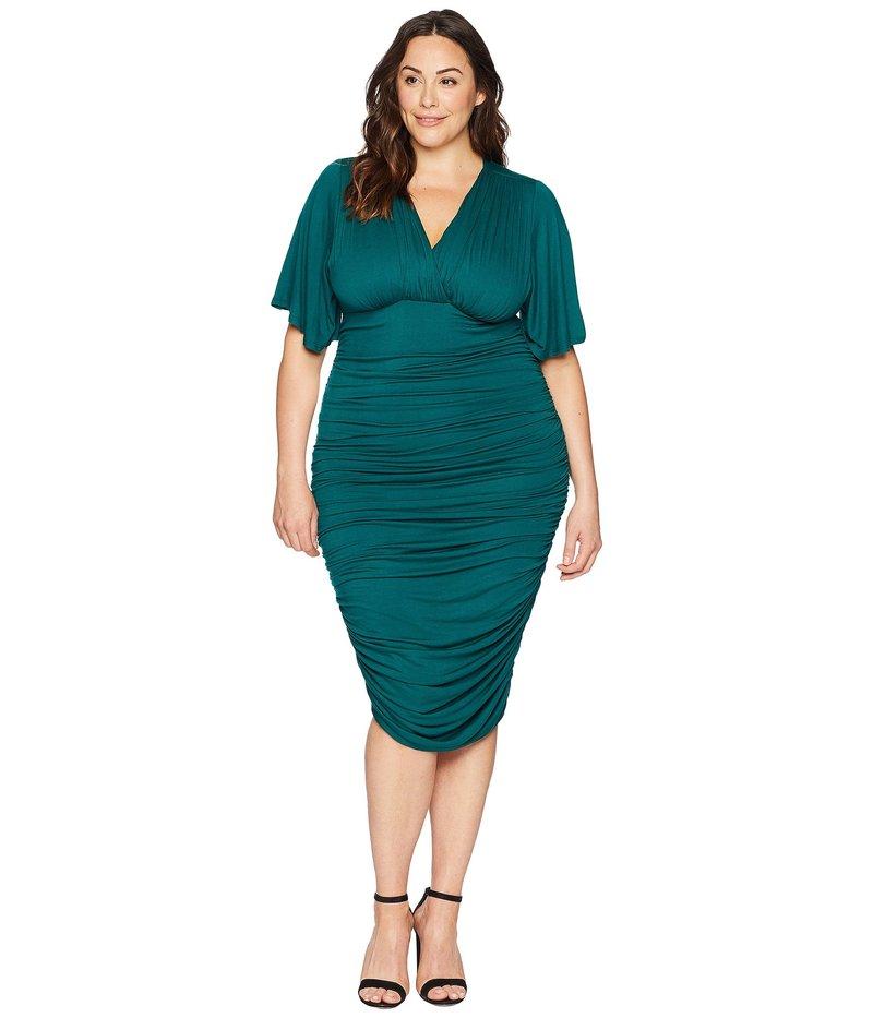 キヨナ レディース ワンピース トップス Rumor Ruched Dress Green Ivy