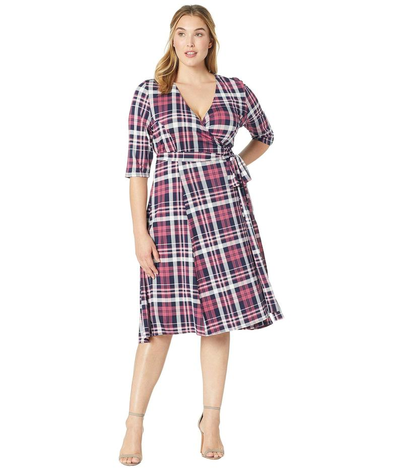 キヨナ レディース ワンピース トップス Essential Wrap Dress Mulberry Plaid