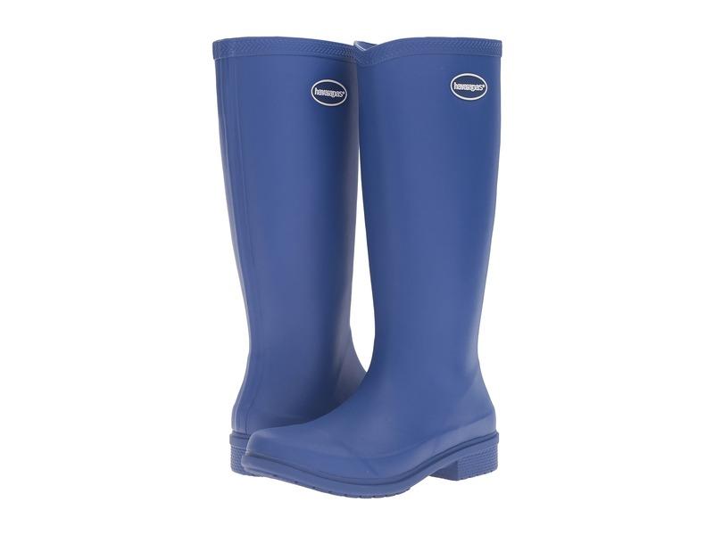 ハワイアナス レディース ブーツ・レインブーツ シューズ Galochas Hi Matte Rain Boot Marine Blue
