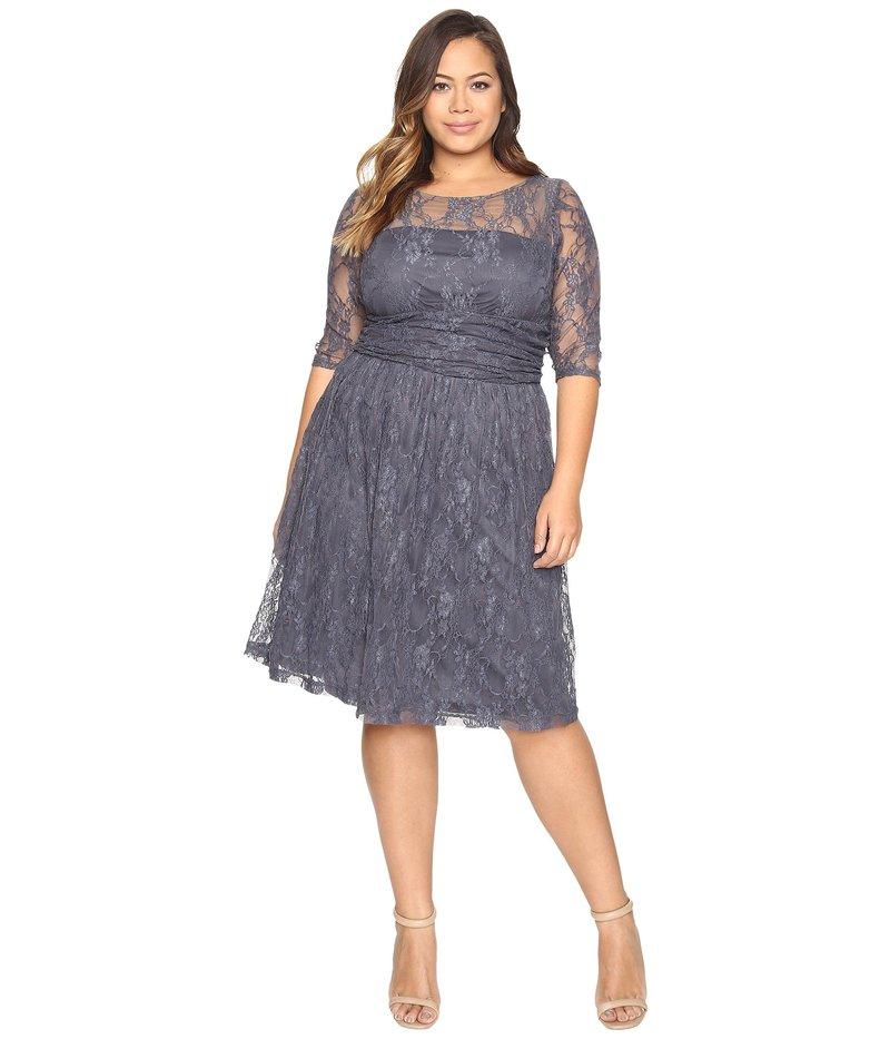 キヨナ レディース ワンピース トップス Luna Lace Dress Twilight Grey
