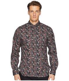 トッドスナイダー メンズ シャツ トップス Thomas Mason Floral Shirt Burgundy