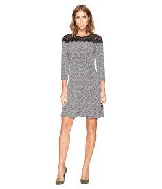 マイケルコース レディース ワンピース トップス Mini Tweed Lace Dress Black/White