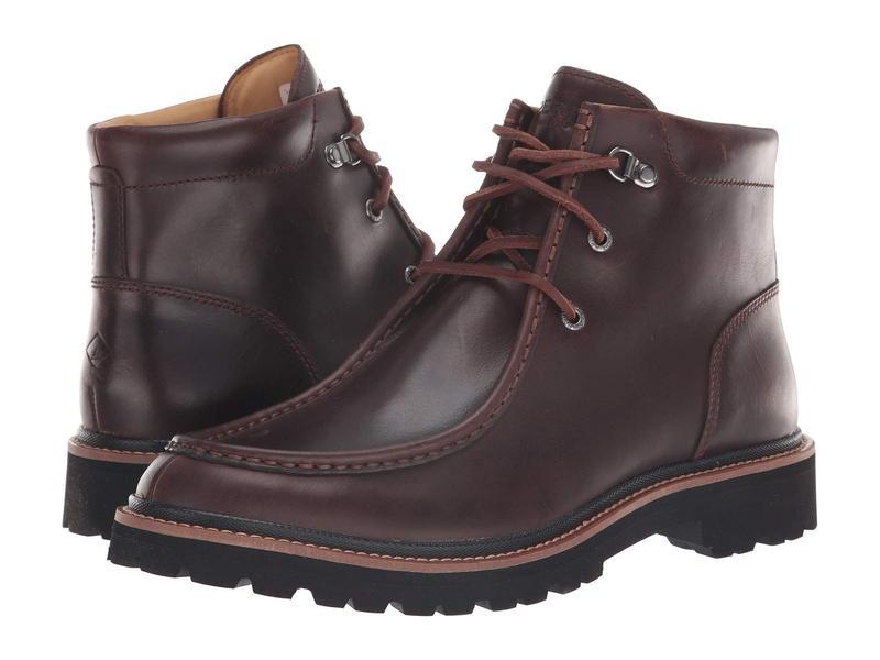 スペリー メンズ ブーツ・レインブーツ シューズ Gold Windsor Lug Chukka Brown Leather
