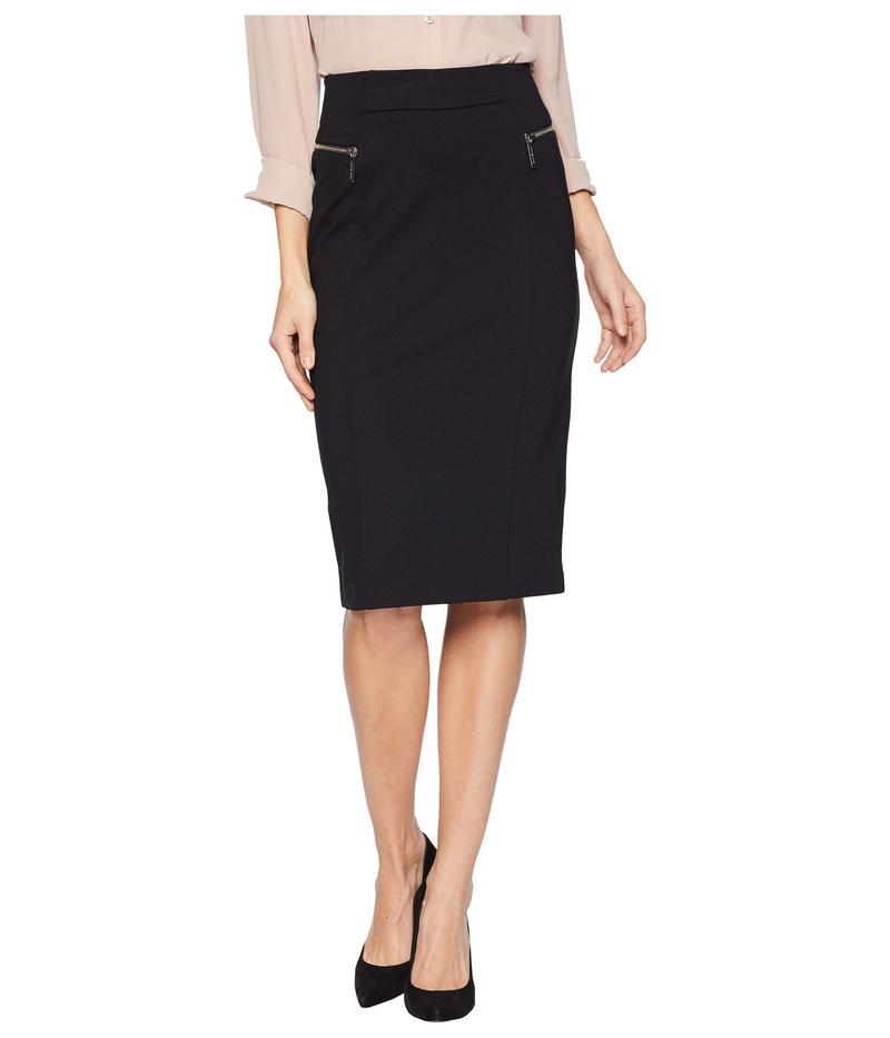 マイケルコース レディース スカート ボトムス Zip Ponte Long Pencil Skirt Black