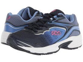 フィラ レディース スニーカー シューズ Memory Runtronic Slip Resistant Fila Navy/Wedgewood/Diva Pink
